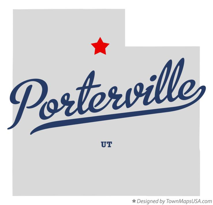 Map of Porterville Utah UT