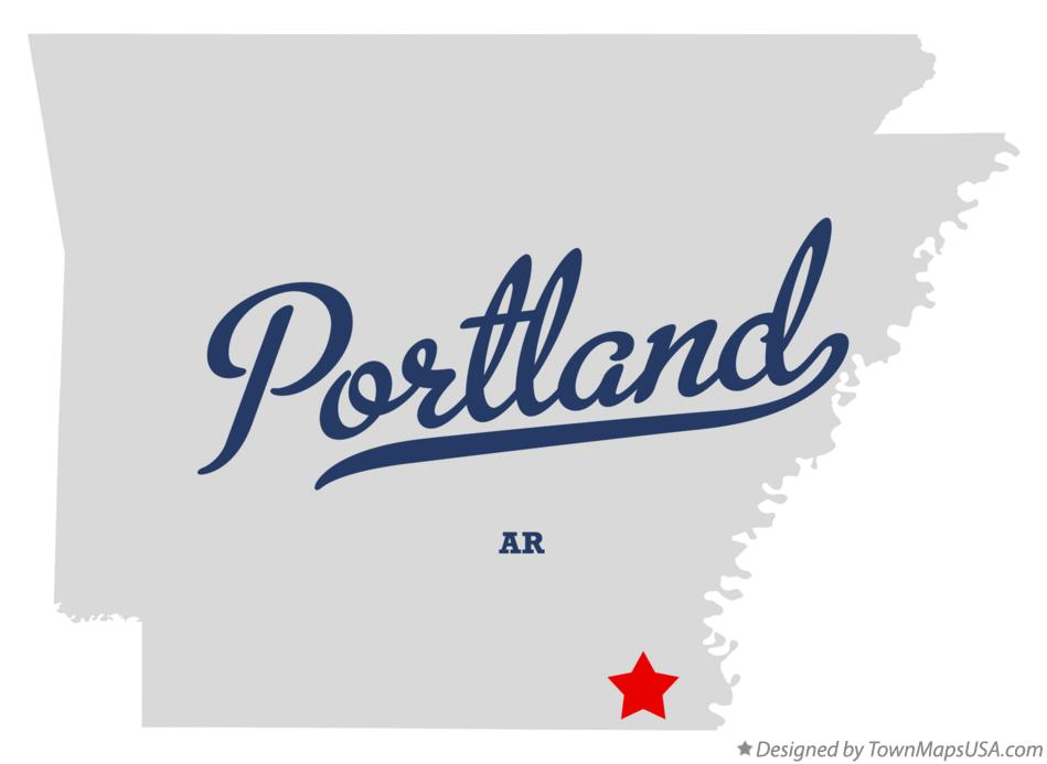 Map of Portland Arkansas AR