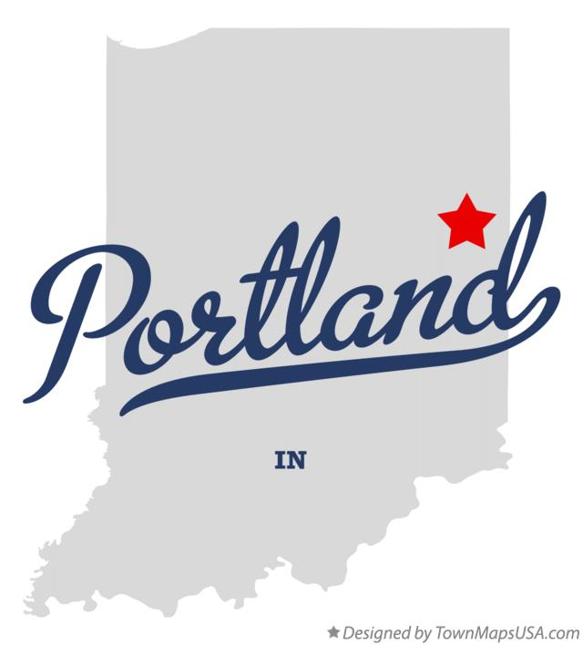 Map of Portland Indiana IN