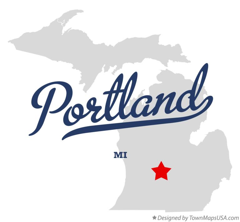 Map Of Portland Mi Michigan