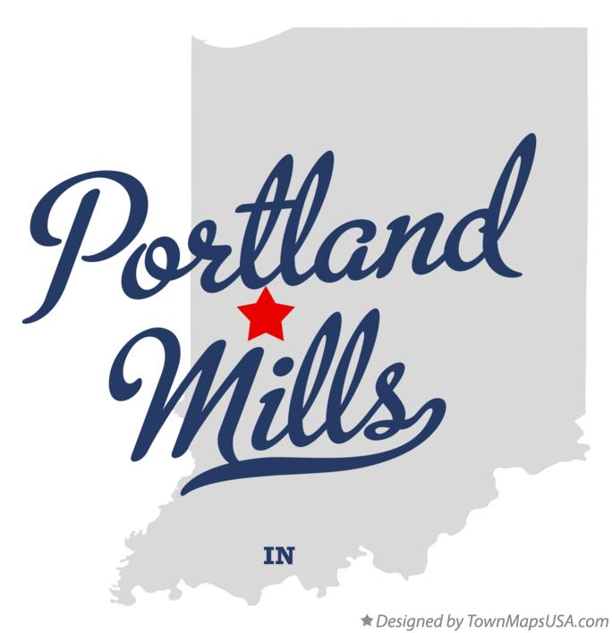 Map of Portland Mills Indiana IN
