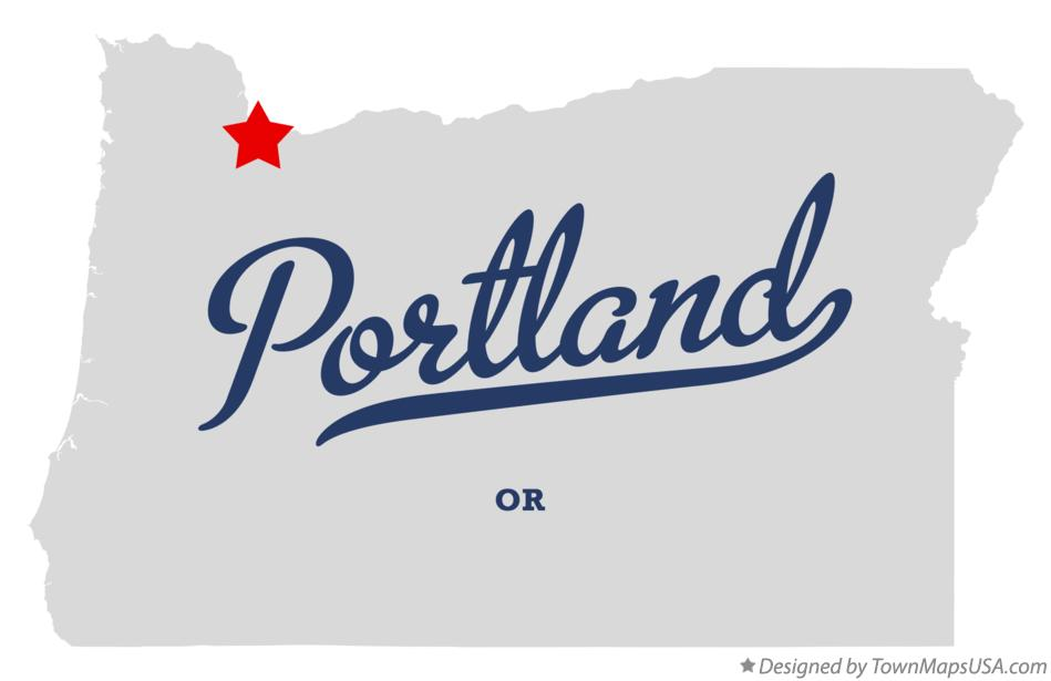 Map of Portland Oregon OR
