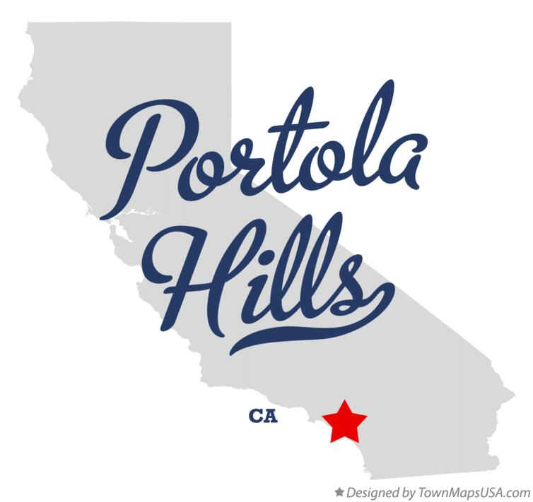 Map of Portola Hills California CA