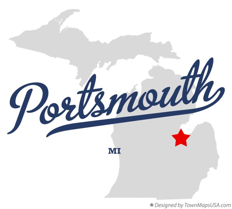 Map of Portsmouth Michigan MI