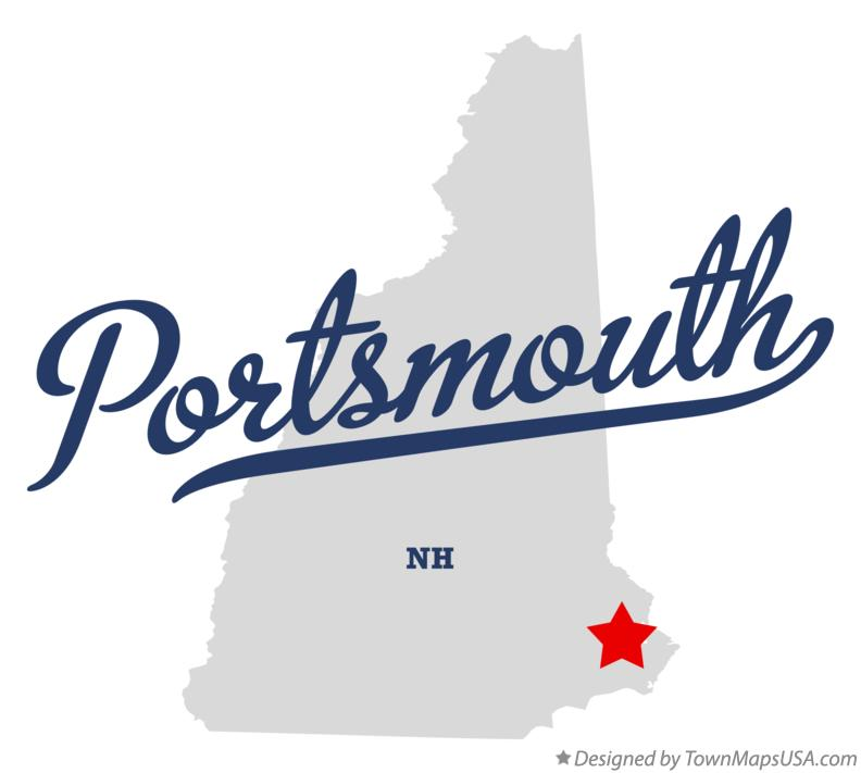 Map of Portsmouth New Hampshire NH