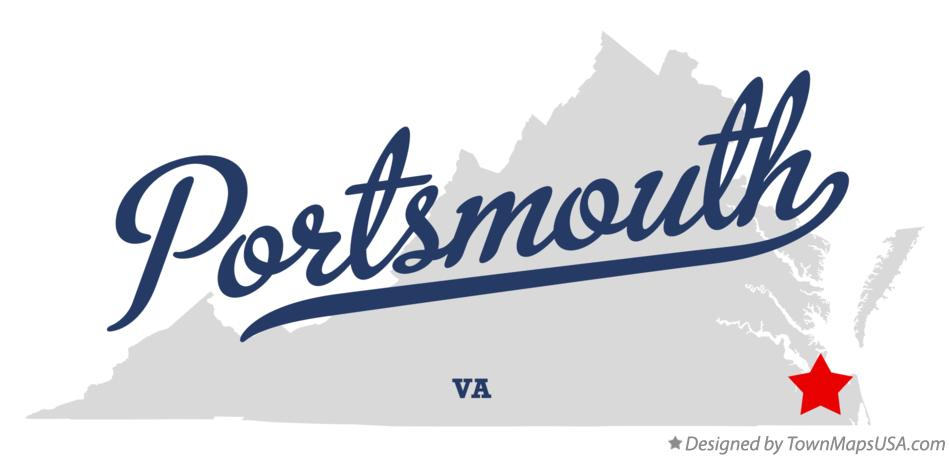 Map of Portsmouth Virginia VA