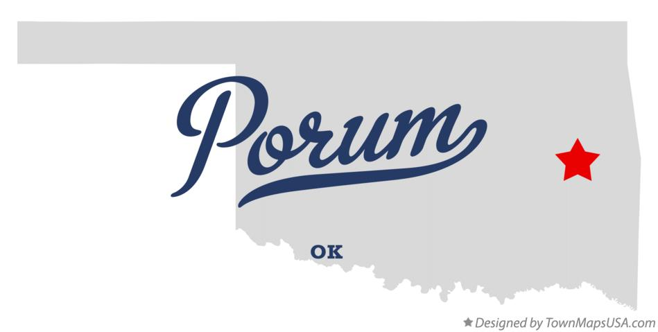 Map of Porum Oklahoma OK