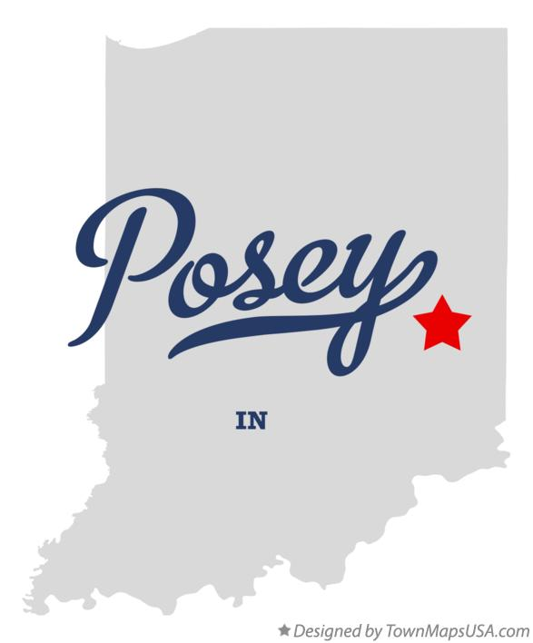 Map of Posey Indiana IN