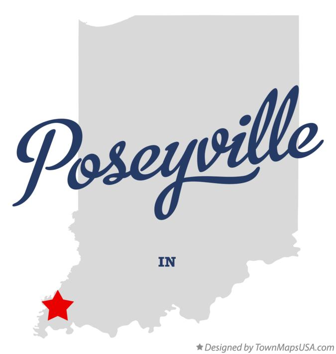 Map of Poseyville Indiana IN
