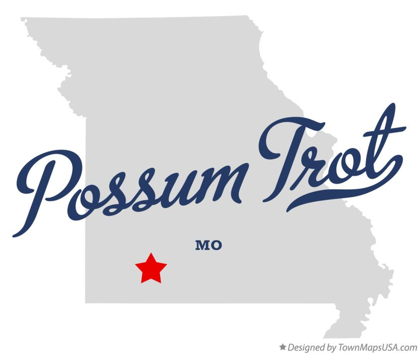 Map of Possum Trot Missouri MO