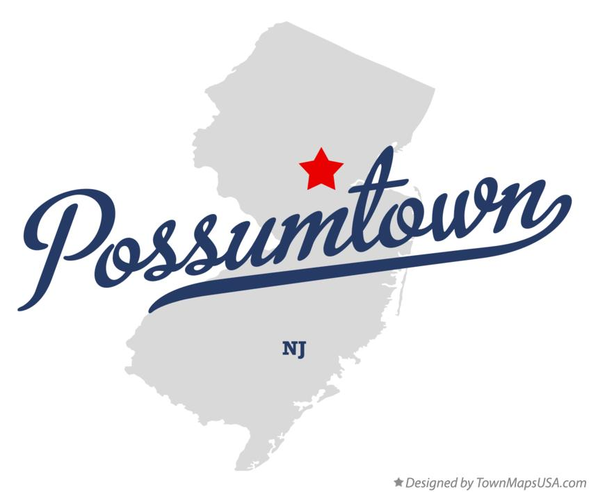 Map of Possumtown New Jersey NJ