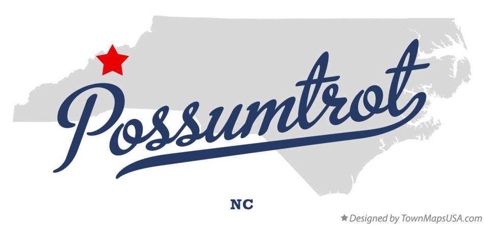 Map of Possumtrot North Carolina NC