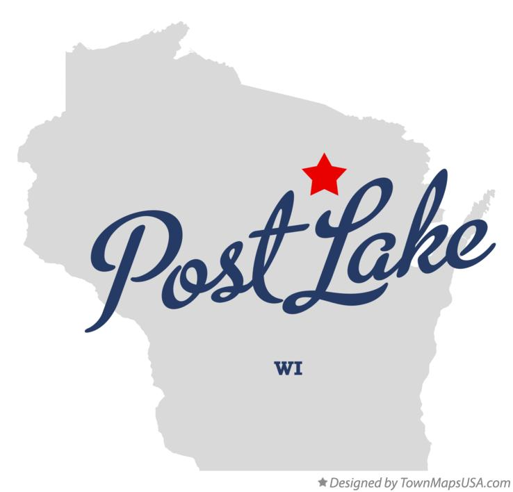 Map of Post Lake Wisconsin WI