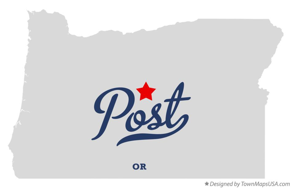Map of Post Oregon OR