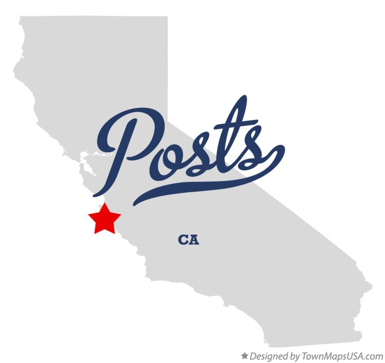 Map of Posts California CA