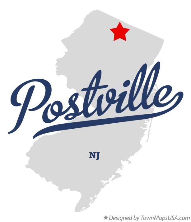 Map of Postville New Jersey NJ