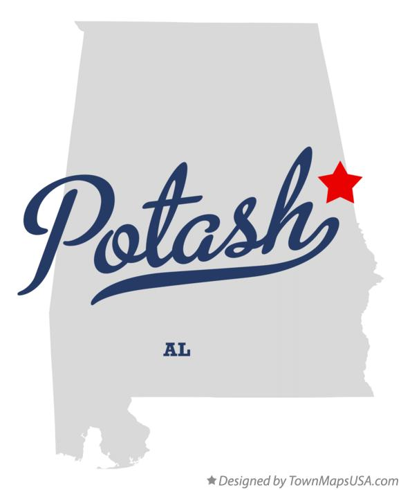 Map of Potash Alabama AL