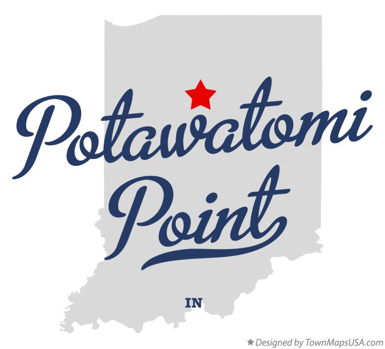 Map of Potawatomi Point Indiana IN