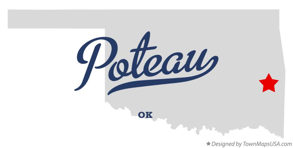 Map of Poteau Oklahoma OK