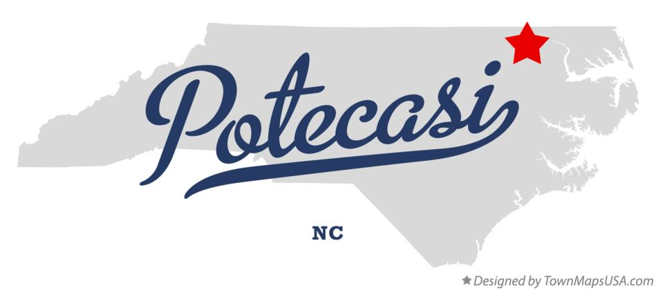 Map of Potecasi North Carolina NC