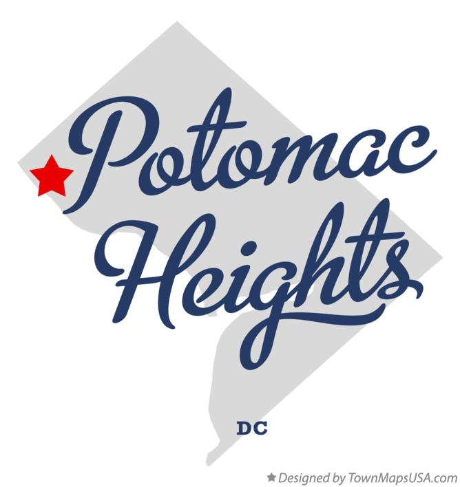Map of Potomac Heights District Of Columbia DC