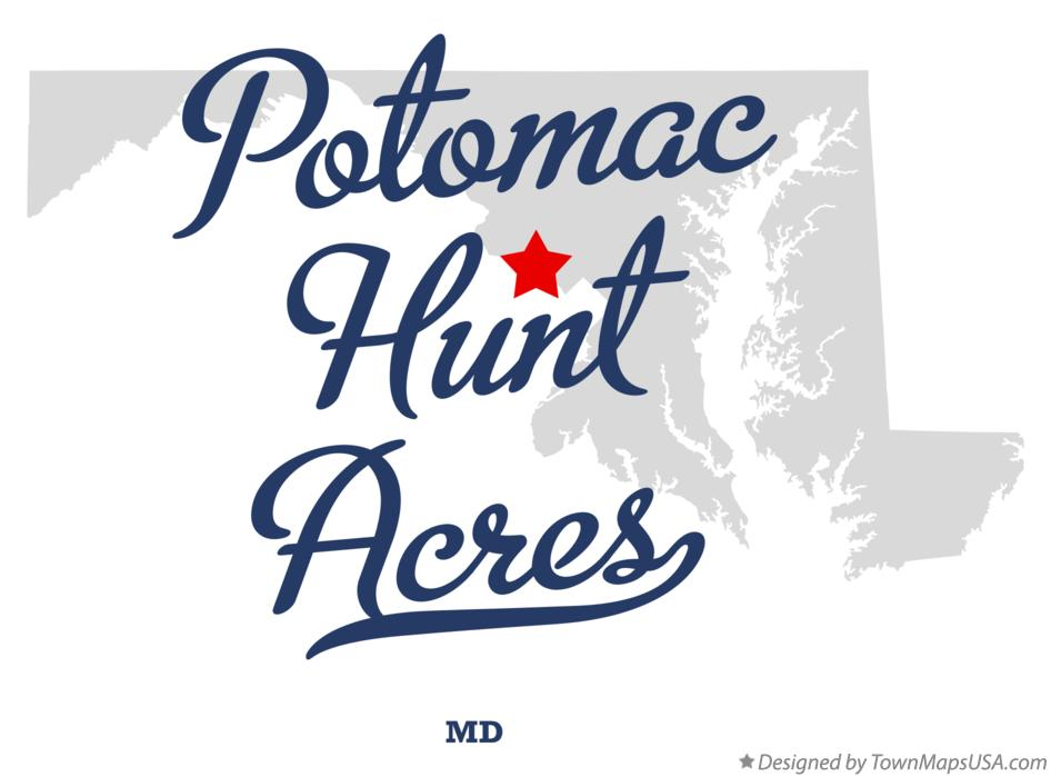 Map of Potomac Hunt Acres Maryland MD