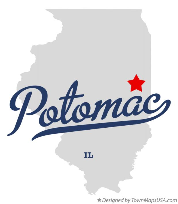 Map of Potomac Illinois IL