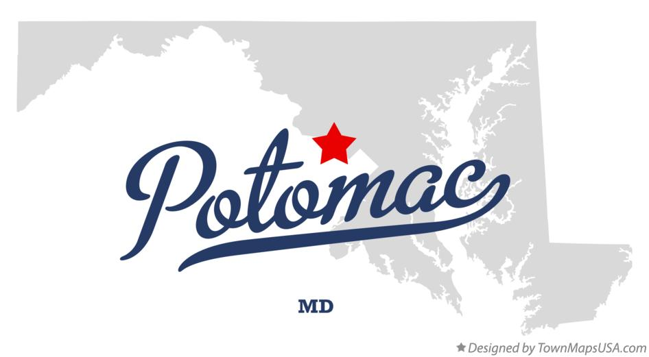 Map of Potomac Maryland MD