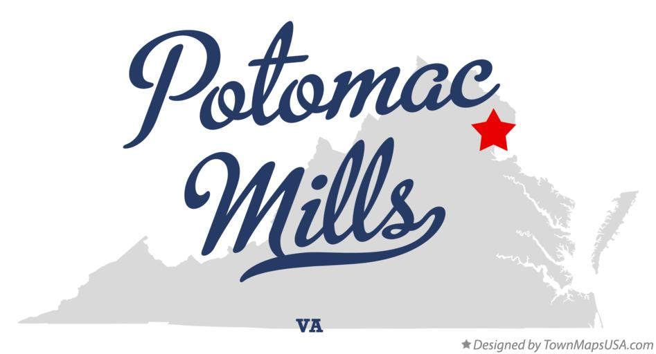 Map of Potomac Mills Virginia VA