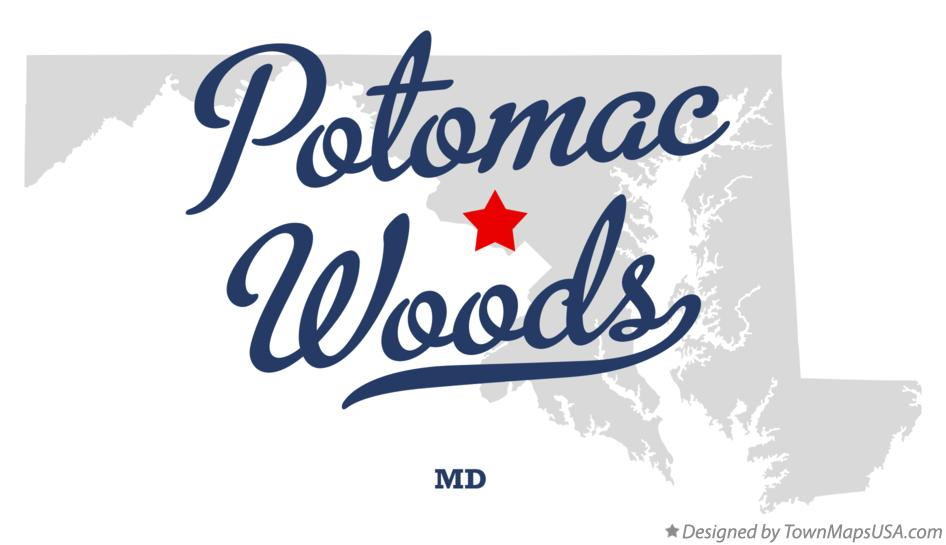 Map of Potomac Woods Maryland MD
