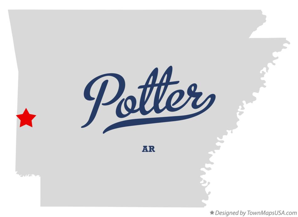 Map of Potter Arkansas AR