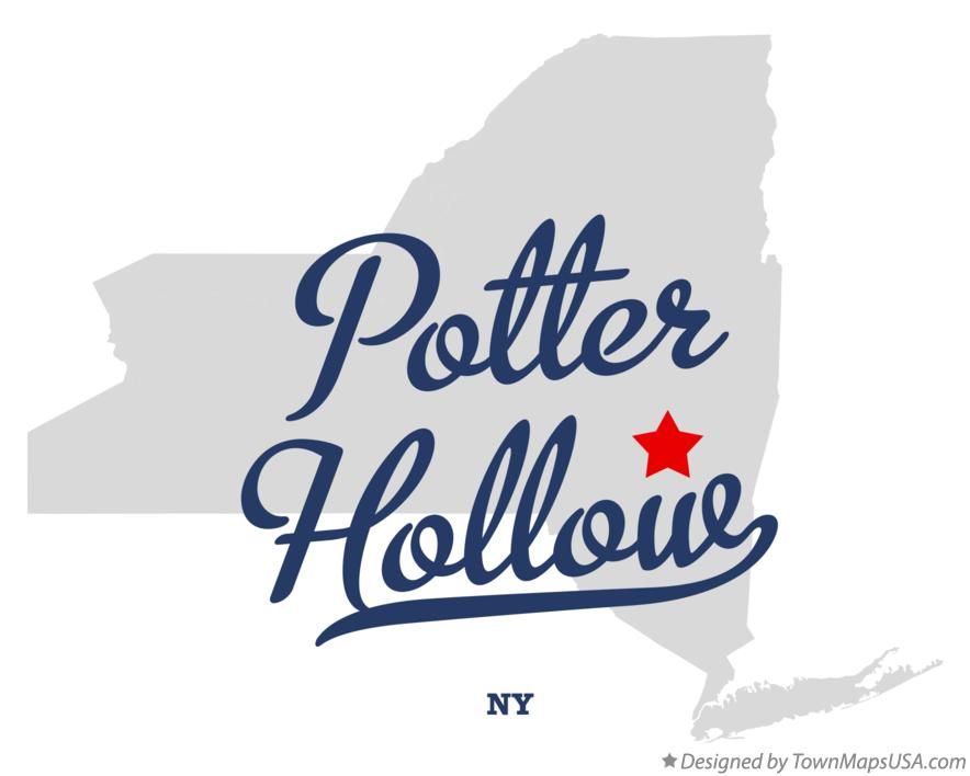 Map of Potter Hollow New York NY