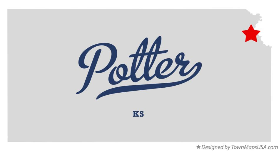 Map of Potter Kansas KS