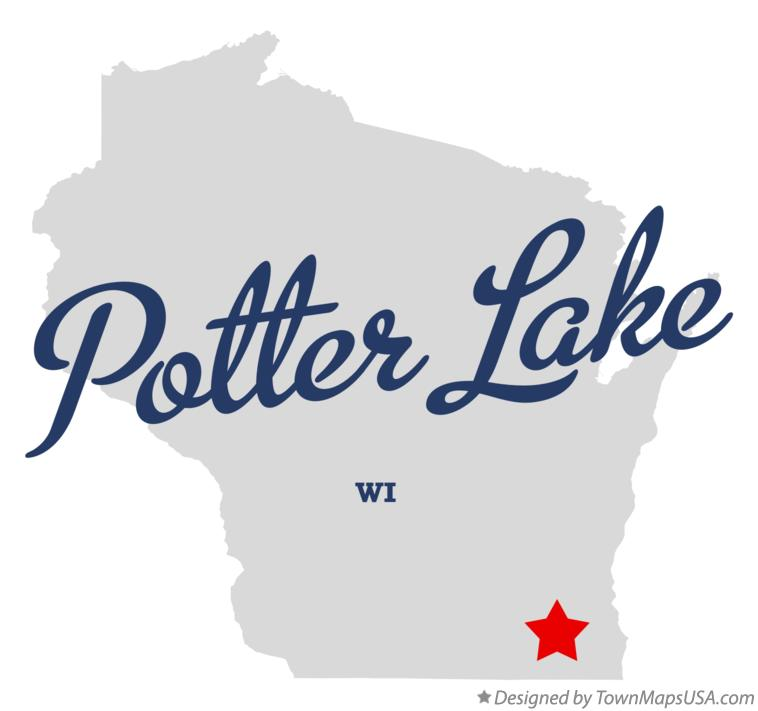 Map of Potter Lake Wisconsin WI