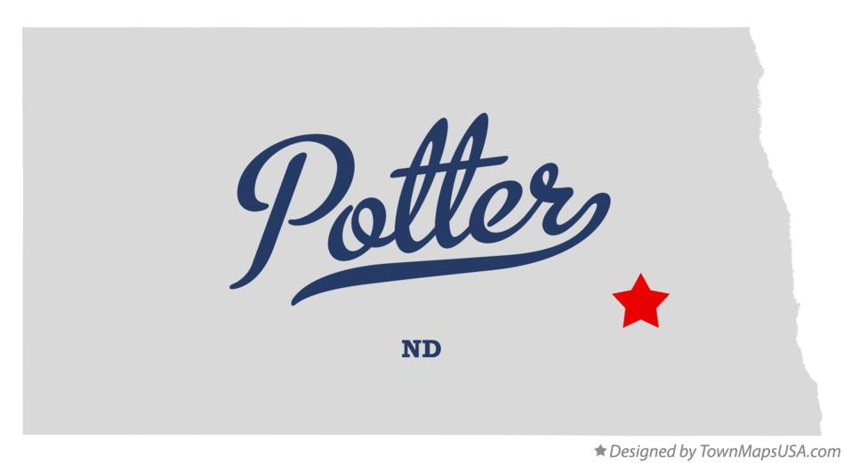 Map of Potter North Dakota ND