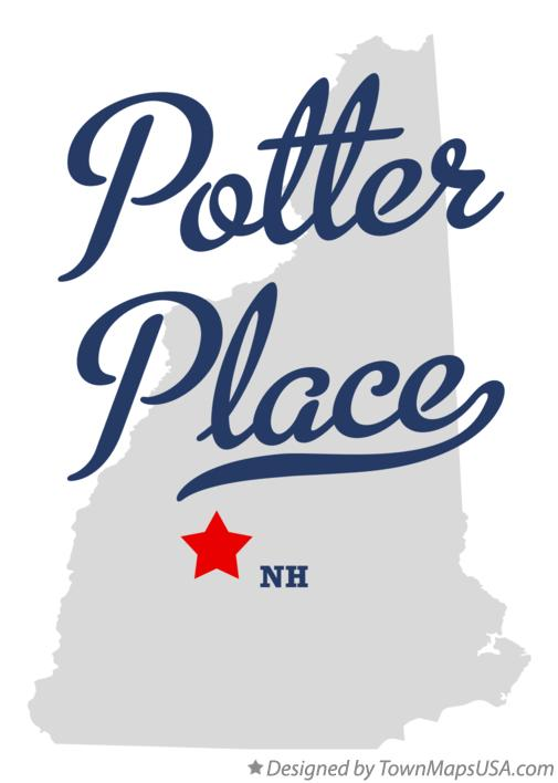 Map of Potter Place New Hampshire NH