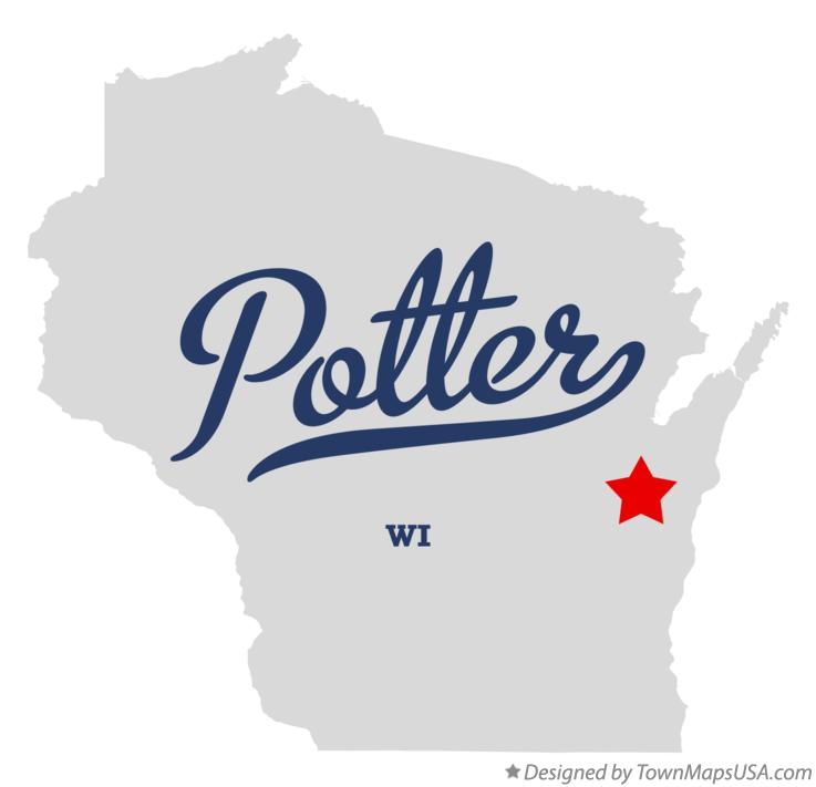 Map of Potter Wisconsin WI