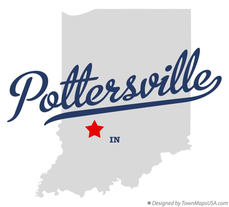 Map of Pottersville Indiana IN