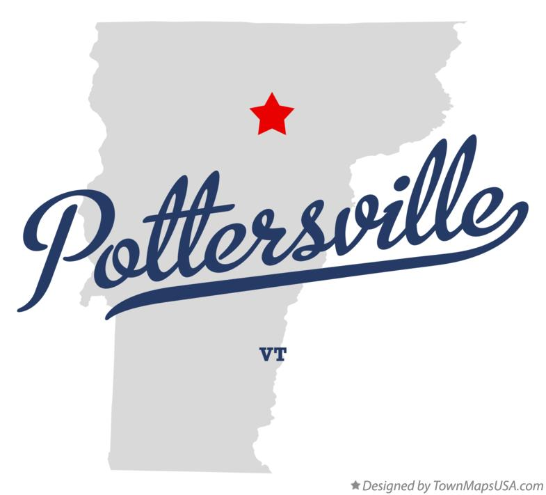 Map of Pottersville Vermont VT