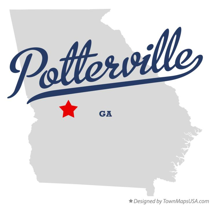 Map of Potterville Georgia GA