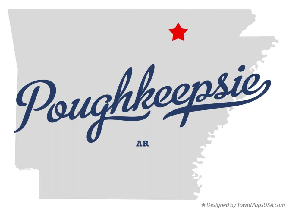 Map of Poughkeepsie Arkansas AR