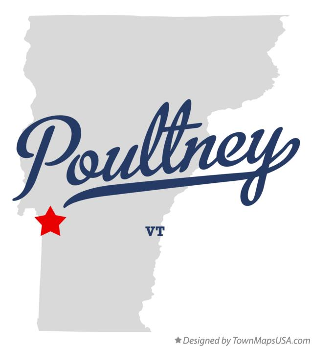 Map of Poultney Vermont VT