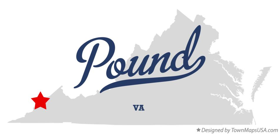 Map of Pound Virginia VA