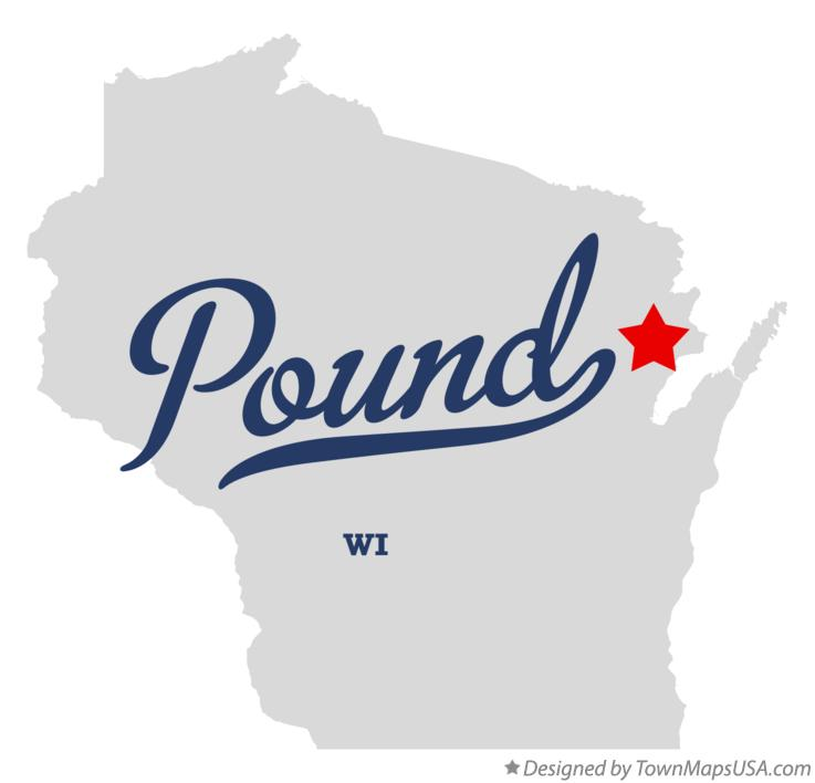 Map of Pound Wisconsin WI