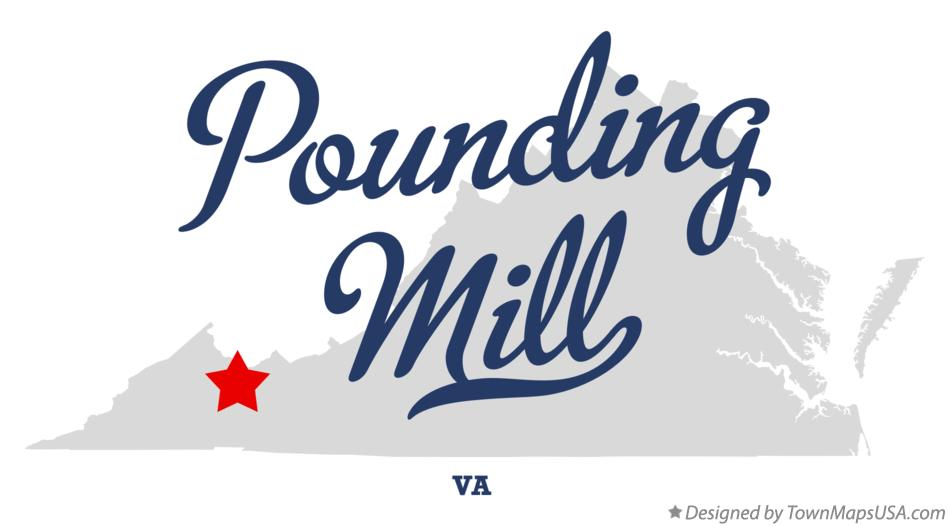 Map of Pounding Mill Virginia VA