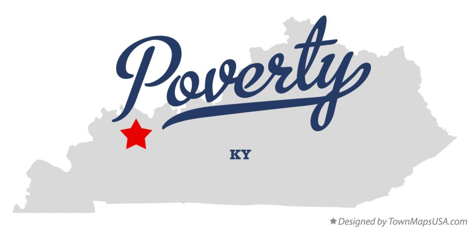 Map of Poverty Kentucky KY