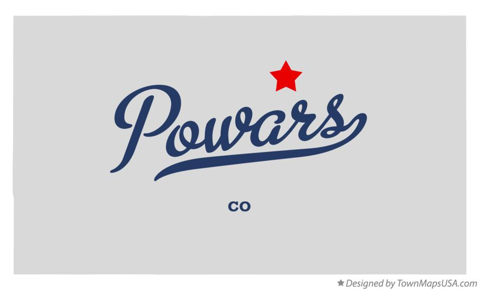 Map of Powars Colorado CO