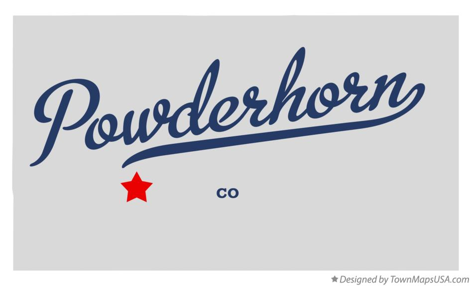 Map of Powderhorn Colorado CO