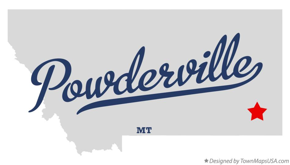 Map of Powderville Montana MT