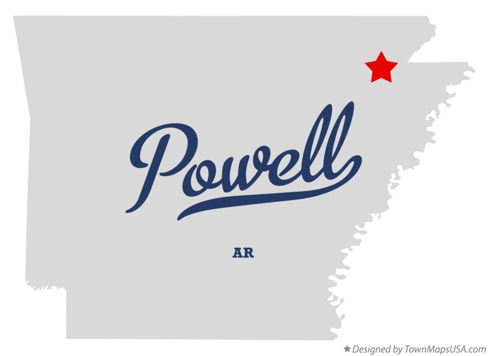 Map of Powell Arkansas AR